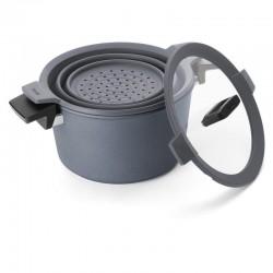 GARNEK WOLL DIAMOND Concpet+ 28 CM Patelnie grillowe WOLL Cookware  - 6 patelnie do smażenia bez tłuszczu